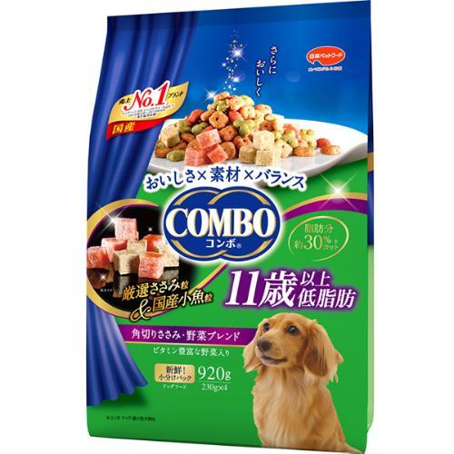 コンボ ドッグ 低脂肪 11歳以上 角切りささみ・野菜ブレンド