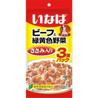 ビーフ/ささみと緑黄色野菜 70g/80g×3袋
