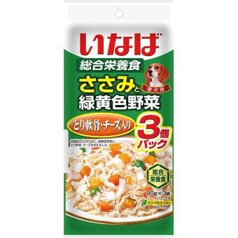 いなば ささみと緑黄色野菜 80g×3コ