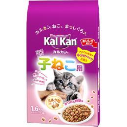 カルカンドライ 12ヶ月までの子ねこ用 かつおと野菜味 ミルク粒入り 1.6kg(400g×4)