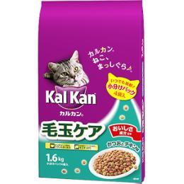 カルカンドライ 毛玉ケア かつおとチキン味 1.6kg(小分けパック4袋入)