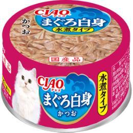 チャオ ホワイティ 水煮タイプ まぐろ白身 85g×24缶