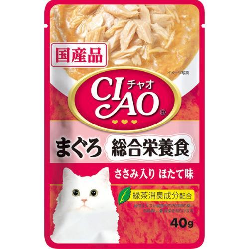 チャオ パウチ 総合栄養食 まぐろ ささみ入り ほたて味