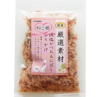 ねこ姫 厳選素材 減塩かつお&にぼしふりかけ 30g