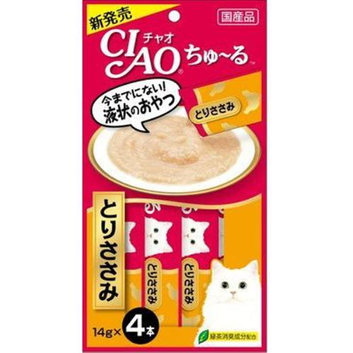 【あす宅】チャオ ちゅ~る とりささみ 4本入り(14g×4コ)