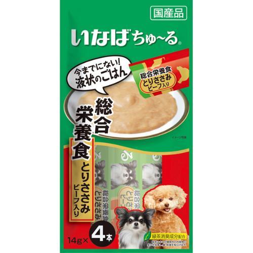ちゅ~る 犬用 総合栄養食 とりささみ ビーフ入り 14g×4本