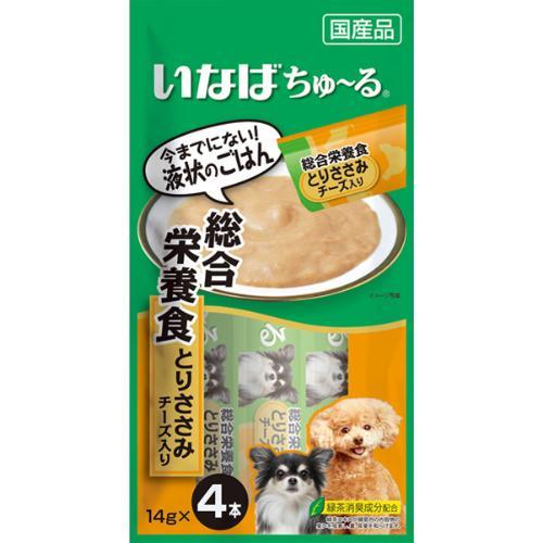 ちゅ~る 犬用 総合栄養食 とりささみ チーズ入り 14g×4本