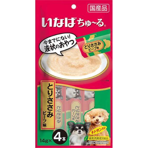 犬用ちゅ~る とりささみ ビーフ味 14g×4本