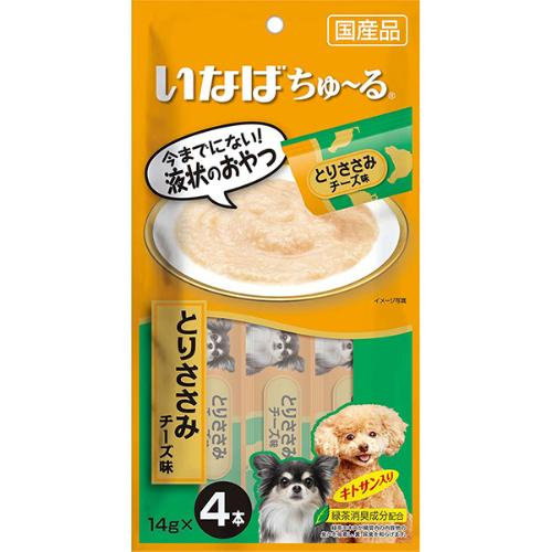 犬用ちゅ~る とりささみ チーズ味 14g×4本