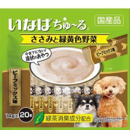 いなば 犬用ちゅ~る ささみ&緑黄色野菜 20本