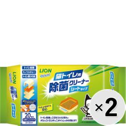 シュシュット!猫トイレ用除菌クリーナーシートタイプ2P