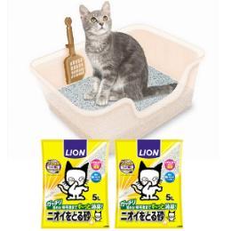 獣医師開発 ニオイをとる砂専用 猫トイレ セット