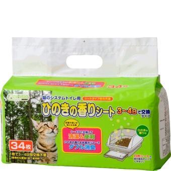 クリーンミュウ 猫のシステムトイレ用ひのきの香りシート