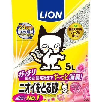 ニオイをとる砂 フローラルソープの香り 5L