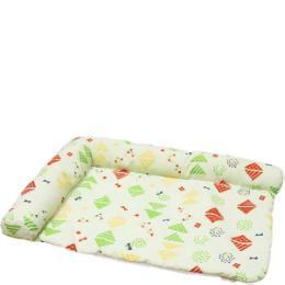 サララfeel L字型枕付きマット ファンシーポップ