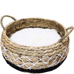 アジアンベッド マリン 丸型バスケット