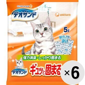 デオサンド ギュッと固まる紙砂 6袋