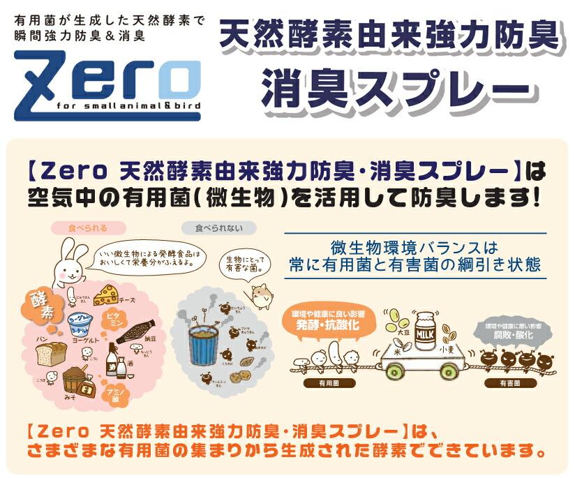 ZERO天然酵素由来強力防臭消臭スプレー