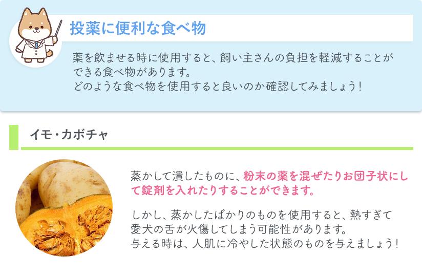投薬に便利な食べ物 イモ・カボチャ