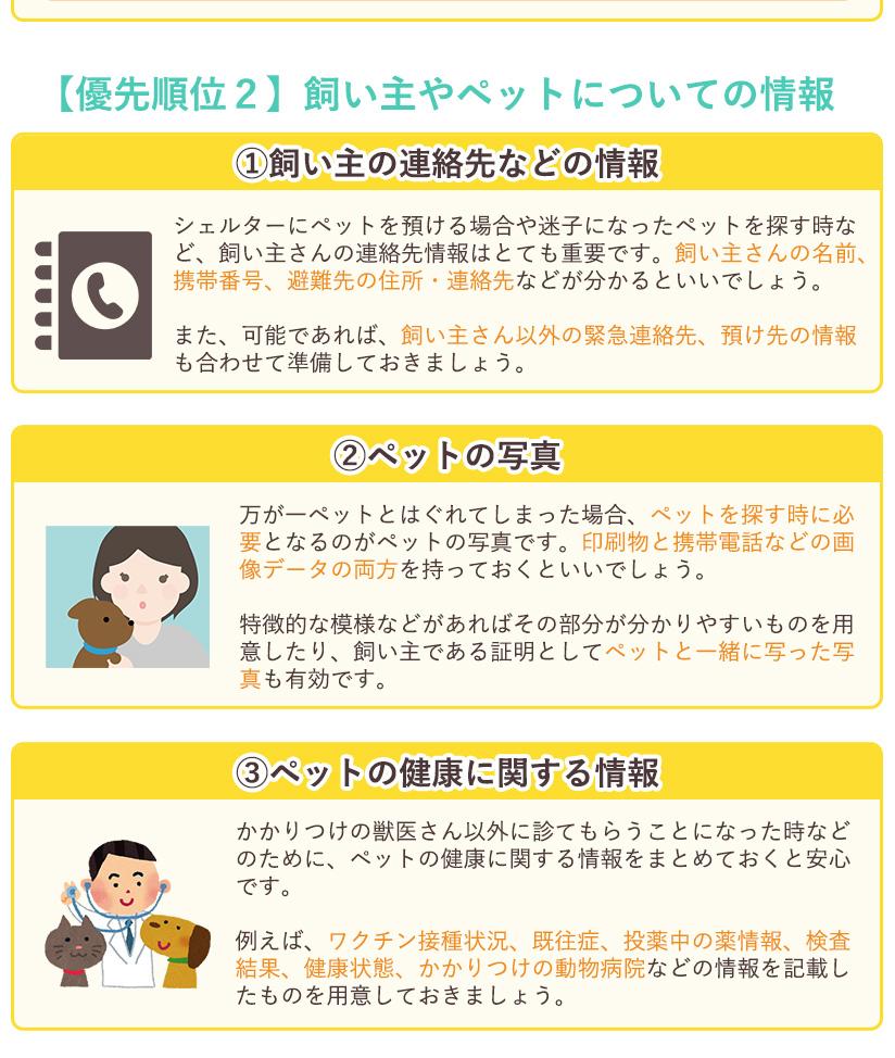 【優先順位2】飼い主やペットについての情報