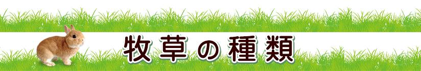 牧草の種類