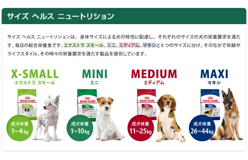 犬サイズヘルスニュートリション